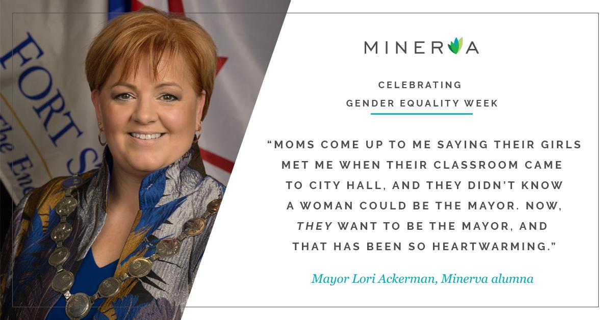 Mayor Lori Ackerman is a Minerva BC alumna